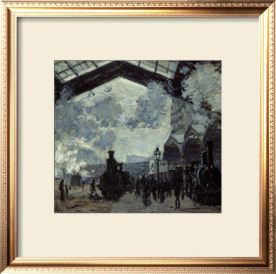 The Gare St. Lazare, 1877 by Claude Monet Pricing Limited Edition Print image