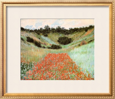Poppy Field In A Hollow by Claude Monet Pricing Limited Edition Print image
