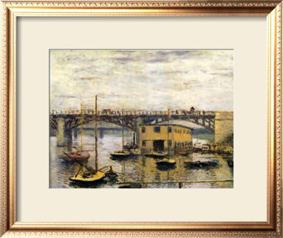 The Bridge At Argenteuil, With Grey Sky by Claude Monet Pricing Limited Edition Print image