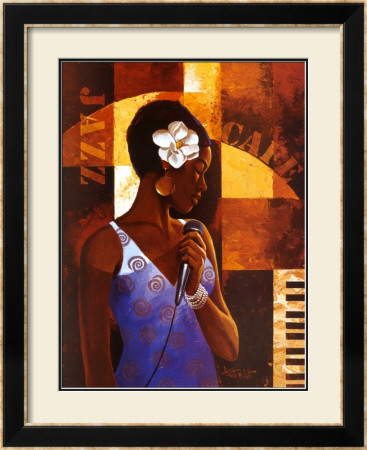 Jazz Cafe by Keith Mallett Pricing Limited Edition Print image