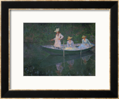 The Boat At Giverny (Or) The Norwegians, The Three Daughters Of Mme. Hoschede by Claude Monet Pricing Limited Edition Print image