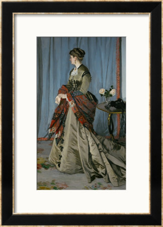 Mme. Louis Joachim Gaudibert (1846-1877), Wife Of A Businessman From Le Havre, 1868 by Claude Monet Pricing Limited Edition Print image
