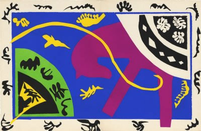Le Cheval, L'ecueyere Et Le Clown From The Jazz Portfolio, 1947 by Henri Matisse Pricing Limited Edition Print image