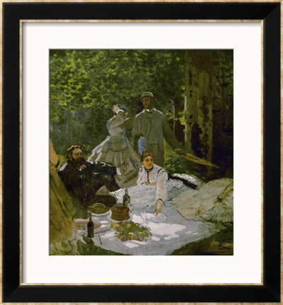 Le Dejeuner Sur L'herbe, (Luncheon On The Grass), Depicts Painters Courbet (L) And Bazille (Center) by Claude Monet Pricing Limited Edition Print image