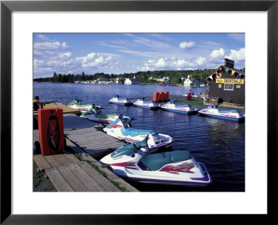 Jet Skis On Moosehead Lake, Northern Forest, Maine, Usa by Jerry & Marcy Monkman Pricing Limited Edition Print image