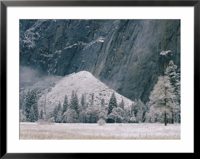 A Snow-Covered Talus Mound And Mountainside by Marc Moritsch Pricing Limited Edition Print image
