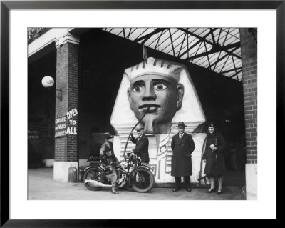 Curious Sphinx Petrol Pump At A London Garage During World War Two by Fred Musto Pricing Limited Edition Print image