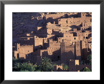 Ait Benhaddou Ksour (Fortified Village) With Pise (Mud Brick) Houses, Morocco by John & Lisa Merrill Pricing Limited Edition Print image