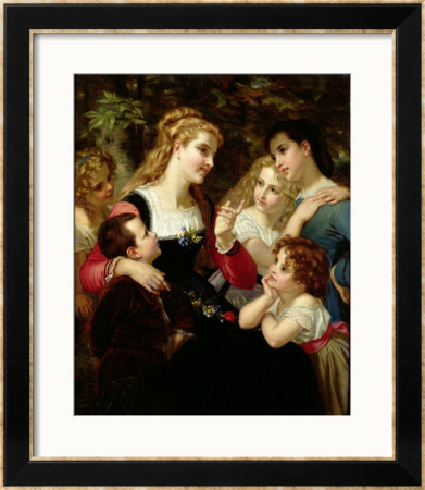 The Storyteller, 1874 by Hugues Merle Pricing Limited Edition Print image