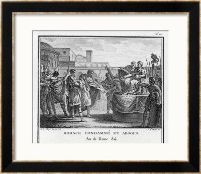 Horatio Sole Survivor Of The Three Defenders Of Rome Is Acquitted Of Murdering His Sister Horatia by Augustyn Mirys Pricing Limited Edition Print image