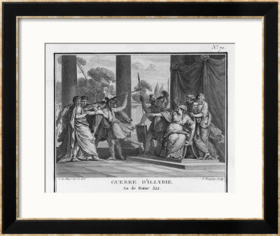 Teuta Queen Of The Illyrians Orders The Roman Ambassadors To Be Killed by Augustyn Mirys Pricing Limited Edition Print image