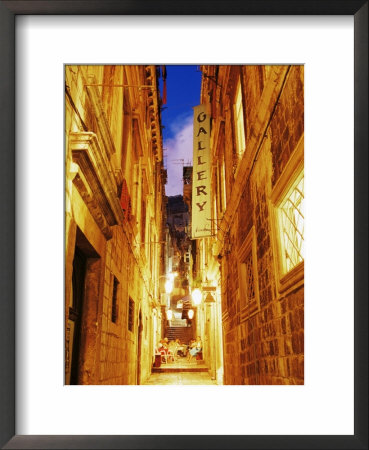 Narrow Street At Dusk, Dubrovnik, Dalmatia, Croatia, Europe by John Miller Pricing Limited Edition Print image