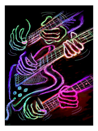 Hot Hands Playing Guitar by Images Monsoon Pricing Limited Edition Print image
