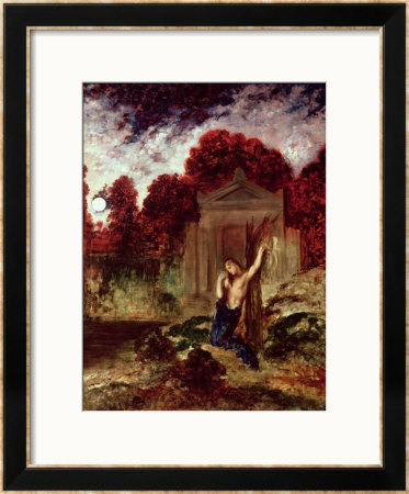 Orpheus At The Tomb Of Eurydice by Gustave Moreau Pricing Limited Edition Print image