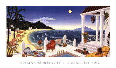 Crescent Bay by Thomas Mcknight Pricing Limited Edition Print image