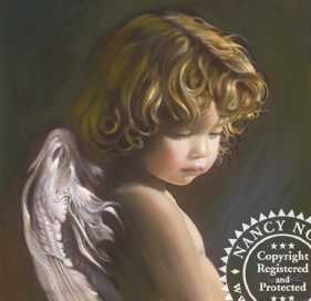 Angel Look Down by Nancy Noel Pricing Limited Edition Print image