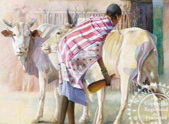 African Girl Milk by Nancy Noel Pricing Limited Edition Print image