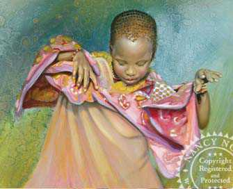 African Girl Dancin by Nancy Noel Pricing Limited Edition Print image