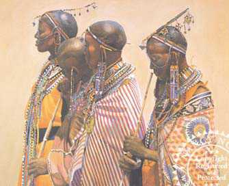 Masai Wives by Nancy Noel Pricing Limited Edition Print image