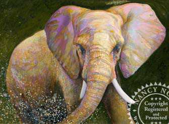 Elephant by Nancy Noel Pricing Limited Edition Print image
