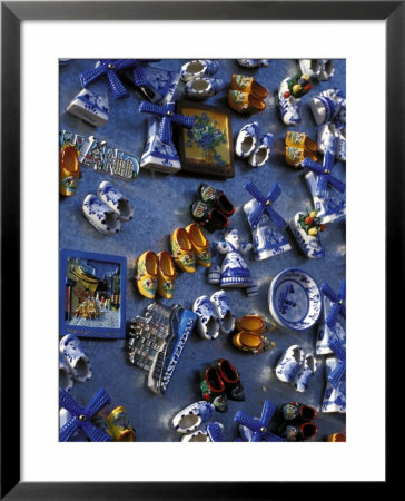 View Of Ceramic Magnet Souvenirs Of Clogs And Windmills For Sale, Amsterdam, The Netherlands by Richard Nebesky Pricing Limited Edition Print image