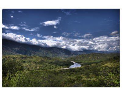 Mountain River Valley by Nish Nalbandian Pricing Limited Edition Print image