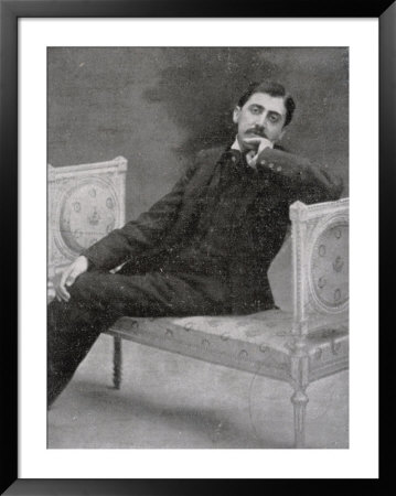 Marcel Proust French Writer Relaxing On An Ornate Sofa by Otto-Pirou Pricing Limited Edition Print image