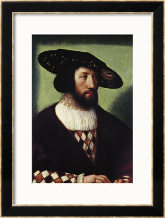 Portrait Of Kristian Ii by Bernart Van Orley Pricing Limited Edition Print image