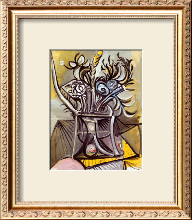 Vase Of Flowers On A Table, 1969 by Pablo Picasso Pricing Limited Edition Print image