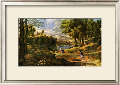 Paysage Avec L'homme Au Serpent Sie`Cle by Nicolas Poussin Pricing Limited Edition Print image