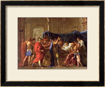 The Death Of Germanicus, 1627 by Nicolas Poussin Pricing Limited Edition Print image