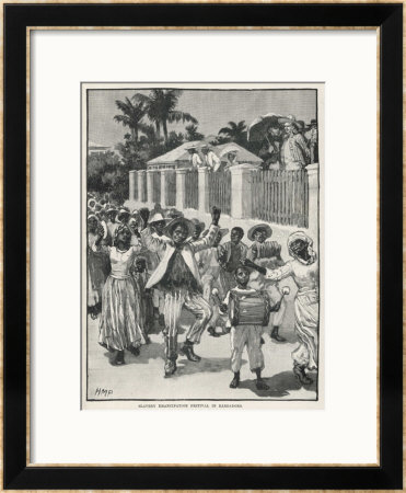 Former Slaves Celebrating Their Emancipation In Barbados by H.M. Paget Pricing Limited Edition Print image