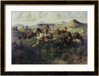 Buffalo Hunt by Edgar Samuel Paxson Pricing Limited Edition Print image