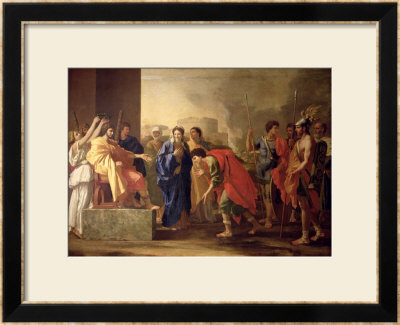 The Continence Of Scipio, 1640 by Nicolas Poussin Pricing Limited Edition Print image