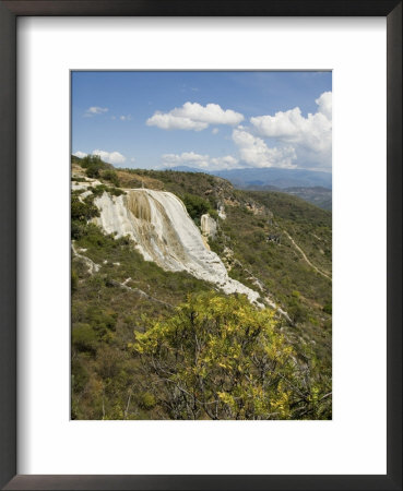 Hierve El Agua, Water Rich In Minerals Bubbles Up From The Mountains And Pours Over Edge, Oaxaca by R H Productions Pricing Limited Edition Print image