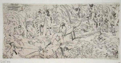 066 - On The South by Jules Pascin Pricing Limited Edition Print image