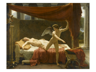 Psyche And Amor, 1817 by Francois-Edouard Picot Pricing Limited Edition Print image