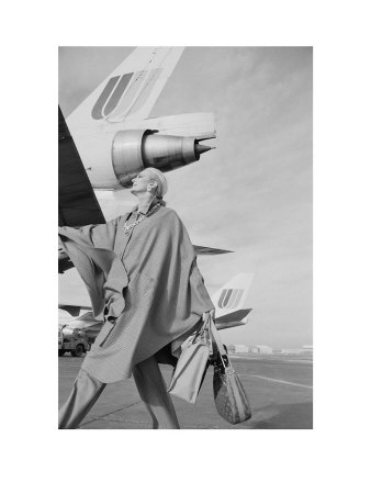 Carmen Dell Orefice, Planes, Vogue, C.1970 by Norman Parkinson Pricing Limited Edition Print image