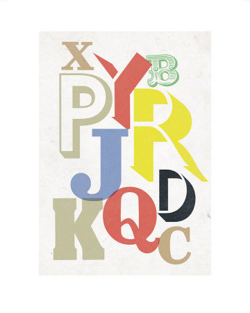 Broken Alphabet by Anthony Peters Pricing Limited Edition Print image