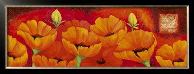 Planche D'anemones Orange by Sylvi Pasquier Pricing Limited Edition Print image