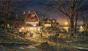 Harvest Moon Ball by Terry Redlin Pricing Limited Edition Print image