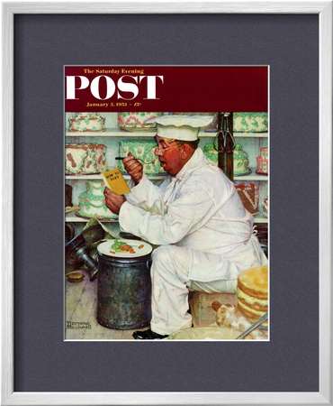 How To Diet Saturday Evening Post Cover, January 3,1953 by Norman Rockwell Pricing Limited Edition Print image