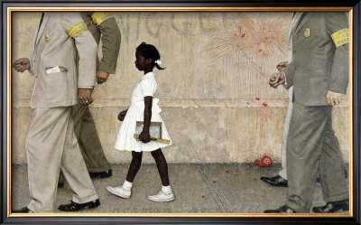The Problem We All Live With by Norman Rockwell Pricing Limited Edition Print image