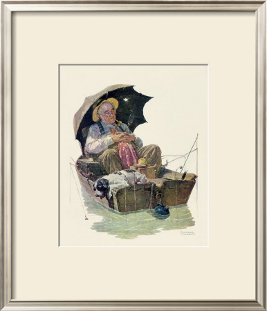 Gone Fishing by Norman Rockwell Pricing Limited Edition Print image