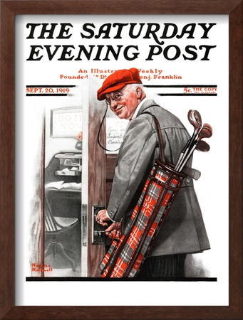 Important Business Saturday Evening Post Cover, September 20,1919 by Norman Rockwell Pricing Limited Edition Print image