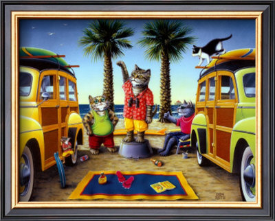 Kool Kat Surf Report by Don Roth Pricing Limited Edition Print image