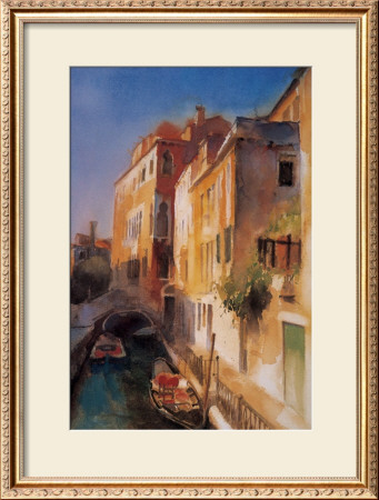 Bridge And Walkway, Venice by Cecil Rice Pricing Limited Edition Print image