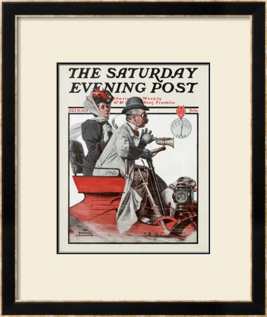 Speeding Along by Norman Rockwell Pricing Limited Edition Print image