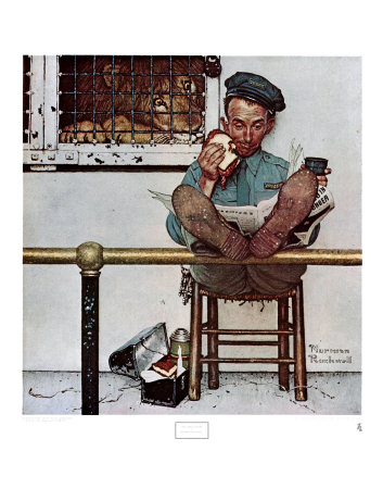 The Lion's Share by Norman Rockwell Pricing Limited Edition Print image
