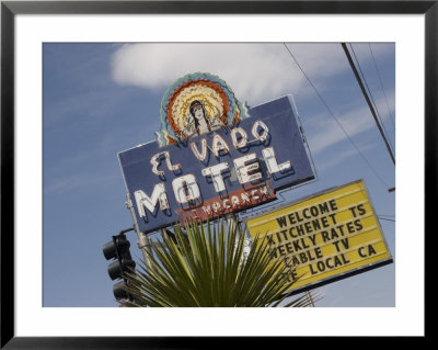 Detail Of El Vado Motel Sign, Albuquerque, New Mexico, Usa by Nancy & Steve Ross Pricing Limited Edition Print image